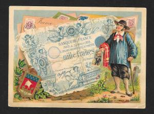 VICTORIAN TRADE CARD Shepard Norwell Dry Goods French Money