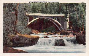 Stanislaus River, California,  Early Postcard, unused