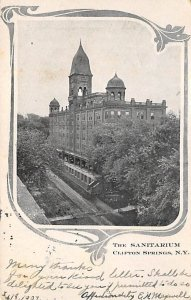 Hospitals Post Card The Sanitarium Clifton Springs, New York, USA Postcard 1907