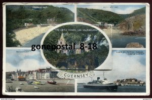 dc1666 - GUERNSEY 1957 Channel Islands Multiview Fold-Out. RMS St. Patrick