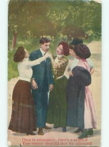 Pre-Linen MAN SURROUNDED BY PRETTY WOMEN AC4552