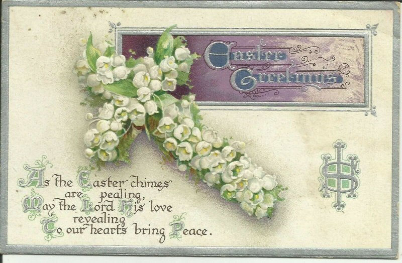 Easter Greetings Series No. R76    EMBOSSED