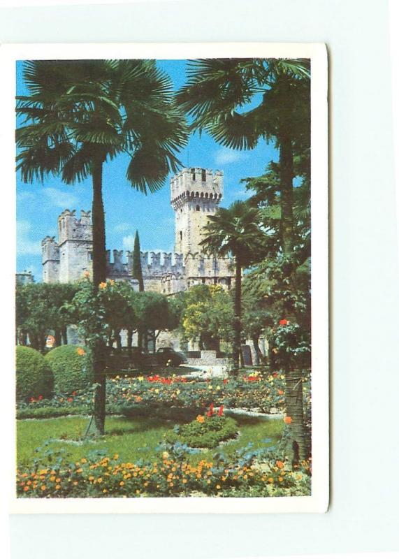 Postcard Sirmione Giardino Hotel Terme Castello Genova Italy 3865a