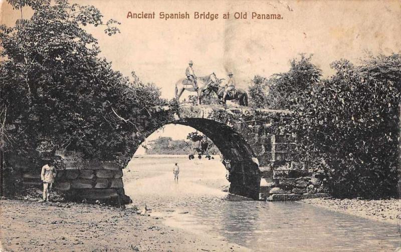 Old Panama Central America Ancient Spanish Bridge Antique Postcard J67815