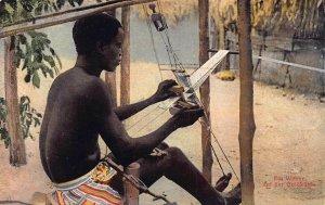Ghana Gold Coast  a weaver postcard
