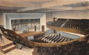 F36/ Newark Licking Co Ohio Postcard 1909 Interior High School Auditorium
