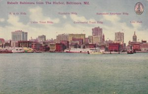 BALTIMORE, Maryland, 1900-1910s; Rebuilt Baltimore From The Harbor