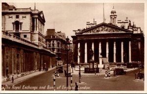 England London The Royal Exchange and Bank Of England Real Photo