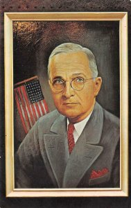 HARRY S. TRUMAN 33rd President Painting Morris Katz 1966 Vintage Postcard