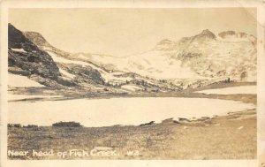 RPPC Near head of Fish Creek California? c1910s Real Photo Vintage Postcard
