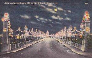 Pennsylvania Bethlehem Christmas Decorations On Hill To Hill Bridge