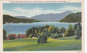 New York Lake Placid From Signal Hill Whiteface Mountain In The Distance Curt...