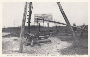 OIL SPRINGS, Ontario, Canada, 1910s; Williams Well - First Commercial Oil Wel...