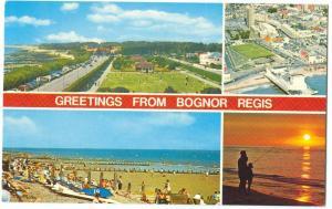 UK, Greetings from Bognor Regis, 1980s used Postcard
