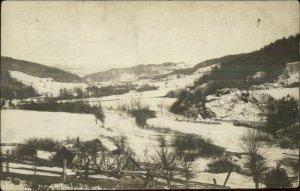 Warren VT in Winter c1910 Real Photo Postcard