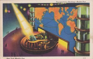New York World's Fair 1939 Transportation Building Rocket Port sk1923