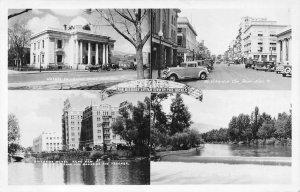 RPPC RENO, NV Virginia Street Scene Truckee River Riverside Hotel 1940s Postcard