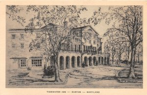 F59/ Easton Maryland Postcard c1930s Tudewater Inn Sketch