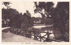 Tours Jardin Des Prebendes French Old Postcard