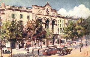 spain, BARCELONA, Teatro Principal, Theatre, Tram (1908) Tuck