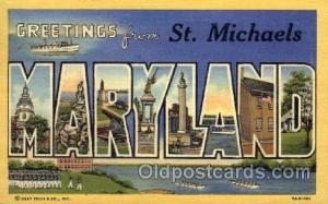 St. Michaels, Maryland Large Letter Town Towns Post Cards Postcards  St. Mich...