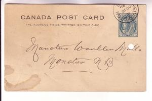 Canadian Postal Stationery Victoria Maple Leaf 1Cent 1899 Order for Woollen M...