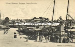 barbados, B.W.I., BRIDGETOWN, Trafalgar Square, Nelsons Monument (1910s)