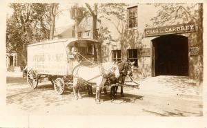 NY - Mount Vernon. Charles L. Carbrey Moving Vans, circa 1900. *RPPC