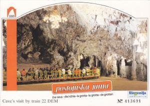 Cave , Miniature tour train , Postojinska jama , Slovenija , 60-80s