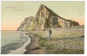Rock From N. E., A Man Walking, Gibraltar, 00-10s