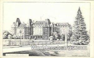 Empress Hotel Victoria Canada Unused