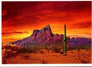 Arizona Sunset Over Picacho Peak