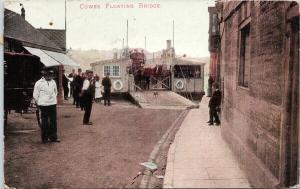 Cowes Floating Bridge IW Isle Of Wight c1908 Postcard D88