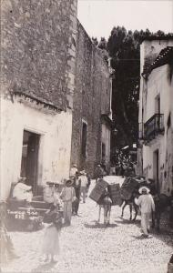 Mexico Taxco Typical Street Scene Real Photo