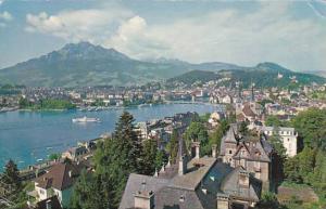 Schweiz Luzern mit Pilatus Real Photo