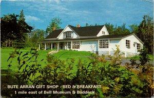 Bute Arran Gift Shop Bed & Breakfast Baddeck NS Nova Scotia Postcard F30