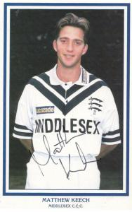Keith Brown Middlesex Cricketer Cricket Hand Signed Card Photo
