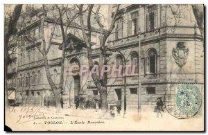 Toulon Old Postcard L & # 39ecole Rouviere