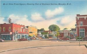 Murphy North Carolina~Business Section @ Square~Western Auto~Restaurant~1940s