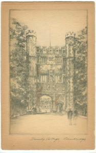 UK, Trinity Gateway Trinity College, Cambridge, early 1900s unused Tuck Postcard