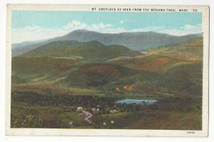 Berkshire MA Mount Greylock seen from Mohawk Trail Curteich Vintage Postcard