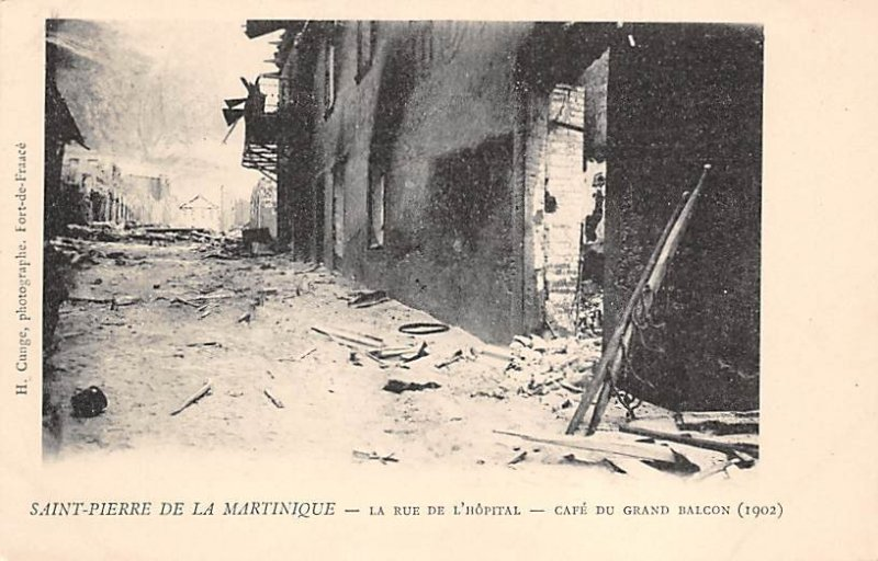 La Rue De l'Hopital Saint Pierre Martinique Unused