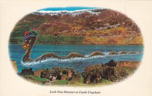 Loch Ness Monster at Castle Urquhart, Scotland, 40-60s