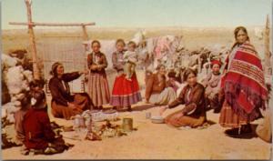 Navajo Indian Women Females Indigenous Arizona Union Oil #44 Unused Postcard E23