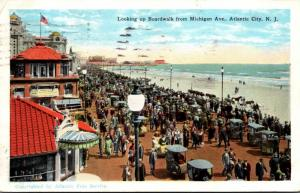 New Jersey Atlantic City Looking Up Boardwalk From Michigan Avenue 1926