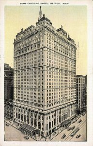 Book Cadillac Hotel, Detroit, Michigan, early postcard, used in 1940