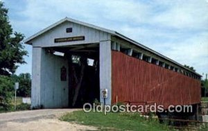 Cumberland, Grant Co, IN USA Covered Bridge Postcard Post Card Old Vintage An...