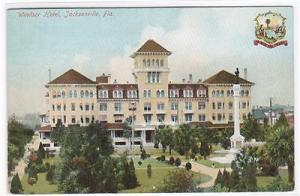 Windsor Hotel Jacksonville Florida 1910c postcard