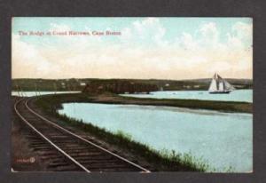 NS Railroad Train Bridge Grand Narrow CAPE BRETON NOVA SCOTIA Carte Postale PC