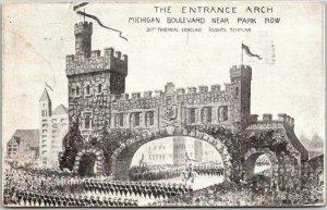 1910 CHICAGO Postcard KNIGHTS TEMPLAR 31st Triennial Conclave Entrance Arch
